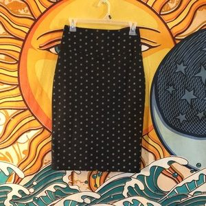 Express black with white detailing pencil skirt 4